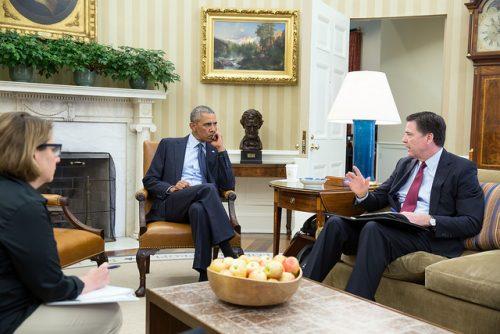 Obama and Comey