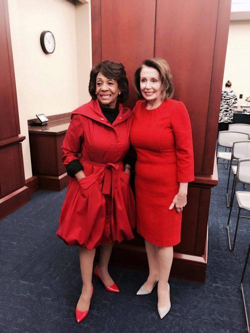 Maxine Waters and Nancy Pelosi