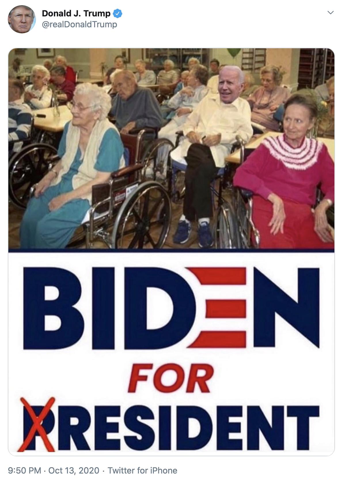 Trump Biden for resident